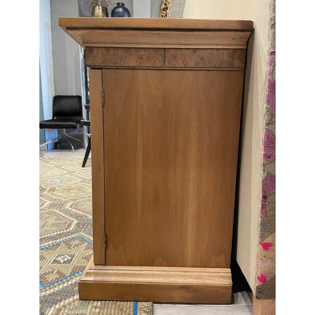 American of Martinsville Vintage American of Martinsville Burl Wood Storage Cabinet For Sale - Image 4 of 8
