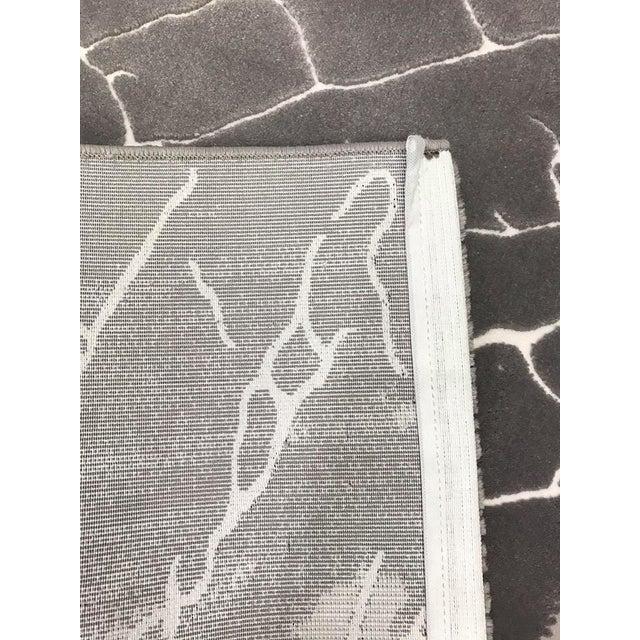 Faded Floor Design Gray Rug - 5'x8' - Image 6 of 6