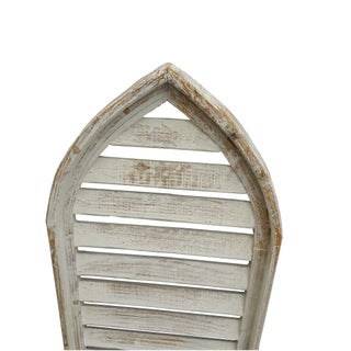 Pair Rustic Shabby Cottage Distressed Cathedral Shutter Window Preview