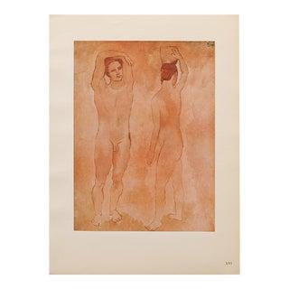 "1948 Pablo Picasso Original ""Les Adolescents"" Lithograph With C. O. A. For Sale"