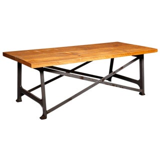 Cross-Frame Coffee Table For Sale