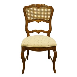 Late 20th Century Century Furniture Country French Provincial Cane Back Side Chair For Sale