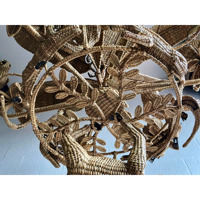 Brass Mario Lopez Torres Palm Tree Chandelier For Sale - Image 7 of 9