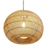 Image of Rattan Donut Lantern For Sale