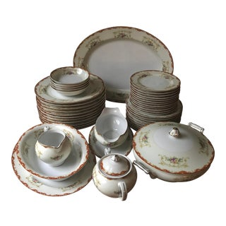 Antique Hinode / Noritake Rare, Year 1876 Hand Painted China/48 Pieces, Dinnerware For Sale
