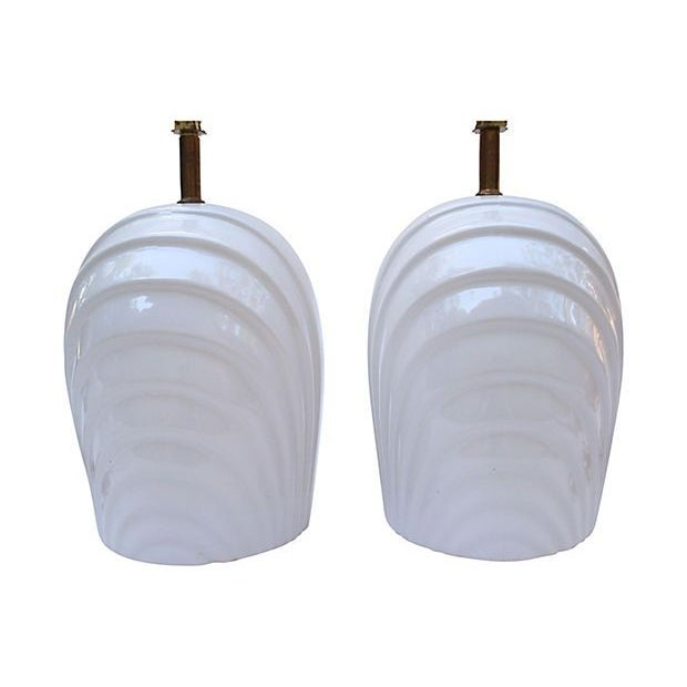 Bright White Ridge Lamps - A Pair - Image 5 of 5