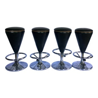 Mid-Century Modern Bar Stools - Set of 4 For Sale