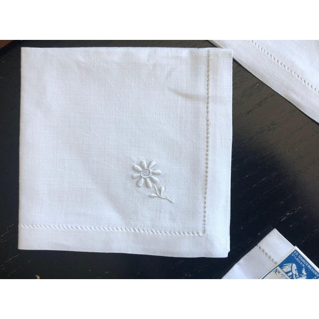 Vintage Linen Luncheon Napkins - Set of 4 For Sale In New York - Image 6 of 12