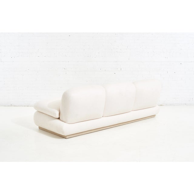 White Modern Drama White Boucle Pouf Sofa For Sale - Image 8 of 11