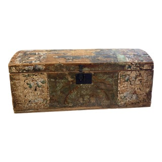 Antique Wallpaper Vendor Trunk For Sale