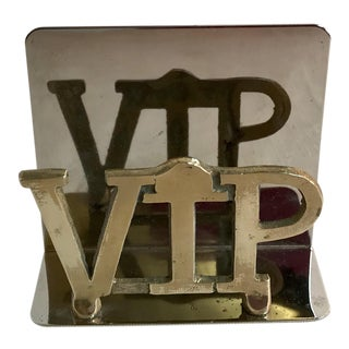 Mid Century Modern Brass Vip Letter Holder For Sale