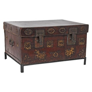 Early 19th Century Asian Trunk on Stand For Sale