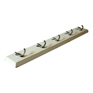 1950s Solid Wall-Mounted 5 Hook Coat Rack For Sale