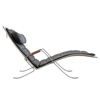 Modern Preben Fabricius Jørgen Kastholm Fk 87 'Grasshopper' Chaise Longue For Sale