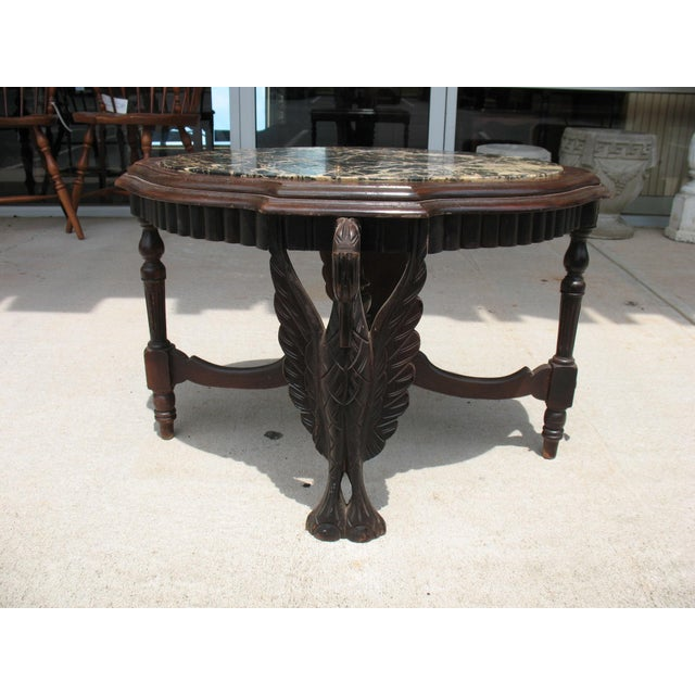 Art Deco Carved Marble Coffee Table - Image 6 of 6