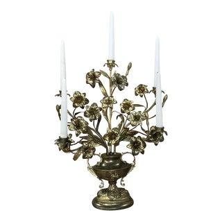 19th Century Antique Bronze Bouquet Candelabra For Sale