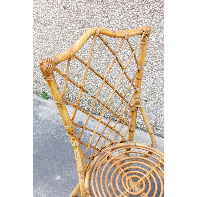 Vintage French Bamboo and Rattan Dining Chairs- Set of 8 For Sale In Houston - Image 6 of 13