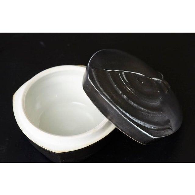 Chris Staley Square Black Lidded Jar, Signed For Sale - Image 9 of 11