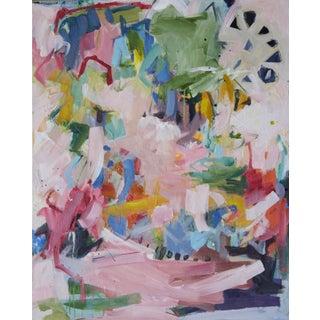 """Kissing Cousins"" Gina Cochran Original Abstract Mixed Media Painting For Sale"