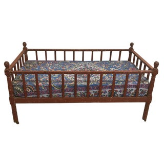 19th Century Traditional Toddler or Child Bed on Original Wheels For Sale