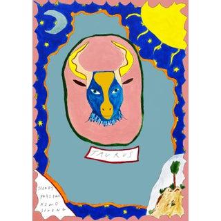 """Taurus Horoscope"" Contemporary A4 Giclée Print For Sale"