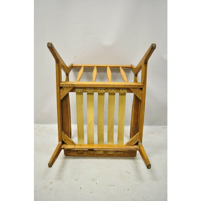 Mid 20th Century Modern Baumritter Walnut Lounge Danish Style Arm Chair For Sale - Image 10 of 12