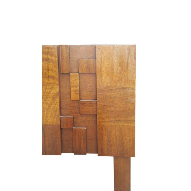 Lane Paul Evans Style Brutalist Mid-Century Modern Headboard - Image 3 of 3
