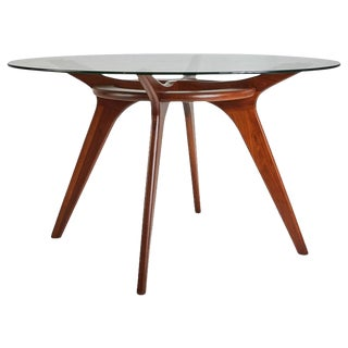 Adrian Pearsall Compass Walnut Dining Table for Craft Associates For Sale