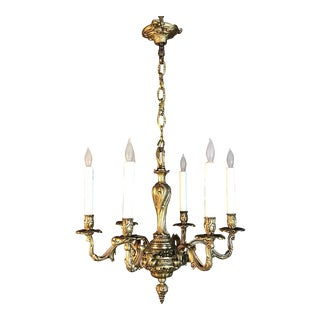 Antique French Louis XV Bronze Chandelier For Sale