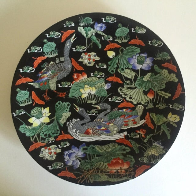 Vintage Asian Swan Platter - Image 2 of 8