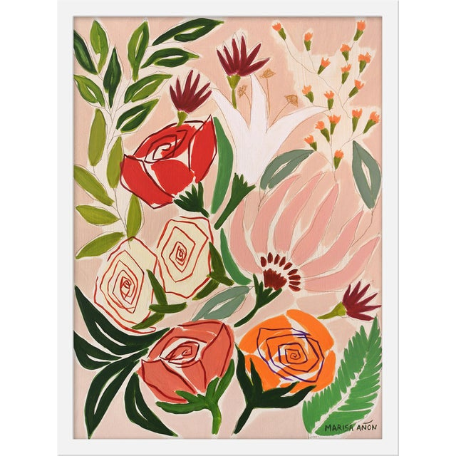 """Contemporary Medium """"Flowers From Gandía"""" Print by Marisa Anon. 18"""" X 24"""" For Sale - Image 3 of 3"""