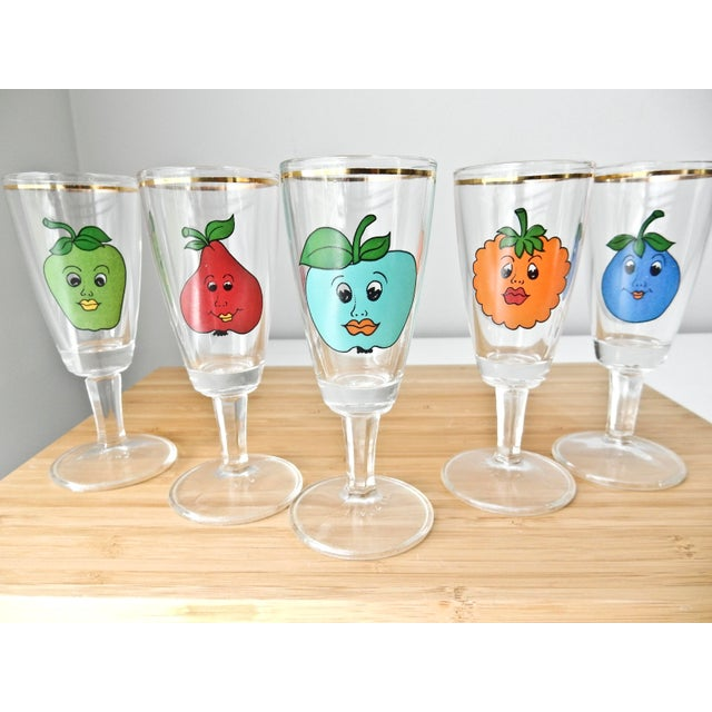 Cordial Fruit Face Shot Glasses - Set of 5 - Image 5 of 7