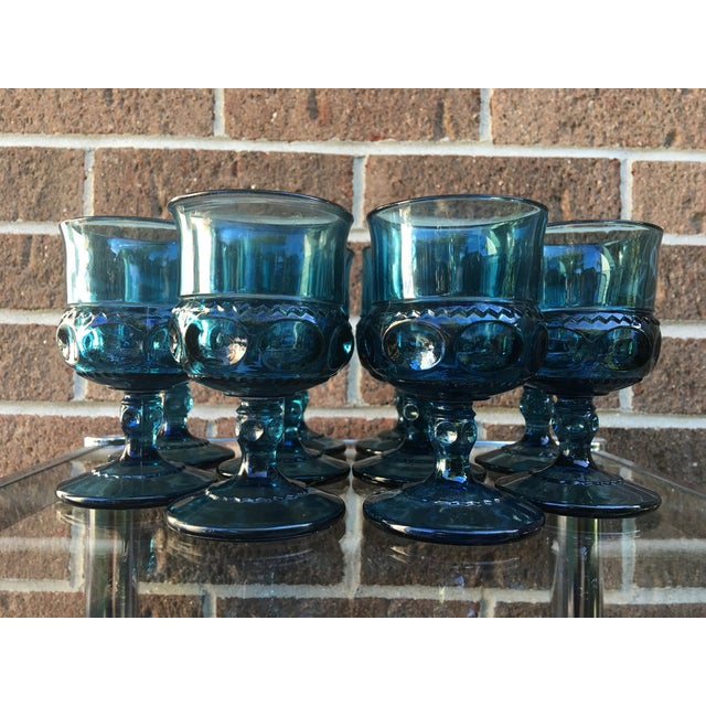 Teal Kings Crown Wine Goblets - Set of 20 - Image 5 of 5