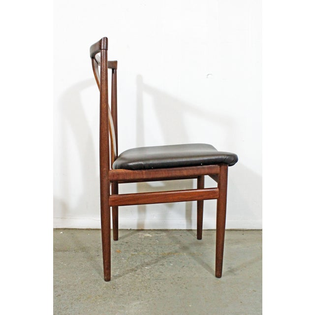 Set of 4 Mid-Century Modern Folke Ohlsson Style Teak Dining Chairs For Sale - Image 4 of 13