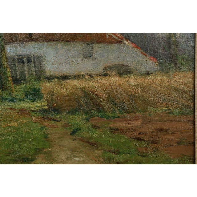 Lake Cottage Painting by Léon Riket - Image 4 of 9