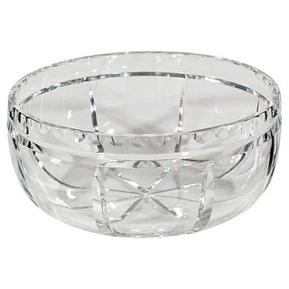 Wheel-Cut Glass Catchall For Sale