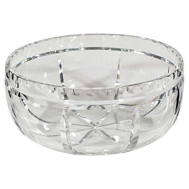 Wheel-Cut Glass Catchall - Image 1 of 2