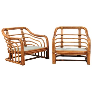 Decorative Restored Pair of Club Chairs by Brown Jordan, Circa 1980 For Sale