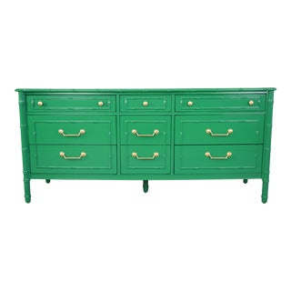Thomasville Faux Bamboo Lacquer Dresser For Sale