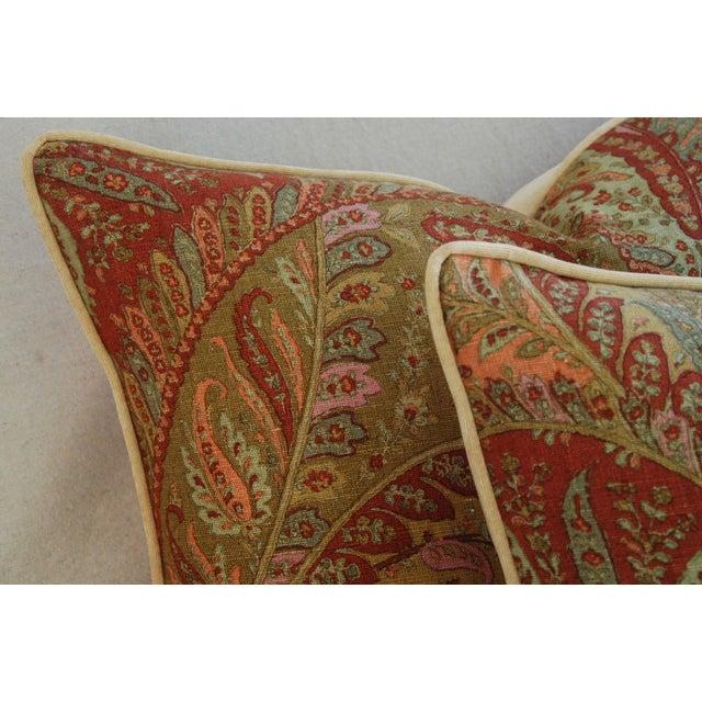 Designer Brunschwig & Fils Paisley Pillows - Pair - Image 5 of 9