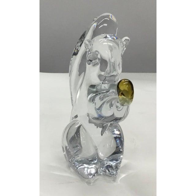 Mid-Century Modern 1960s Fm Konstglas Sweden Glass Sculpture of Squirrel For Sale - Image 3 of 6