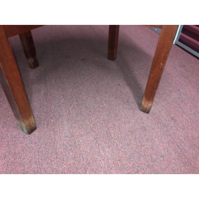 Chestnut Snug Seat Soda Fountain Chairs & Table - 5 Pieces For Sale - Image 8 of 13