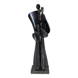 "1980's Boris Kramer ""Family"" Signed Metal Sculpture For Sale"