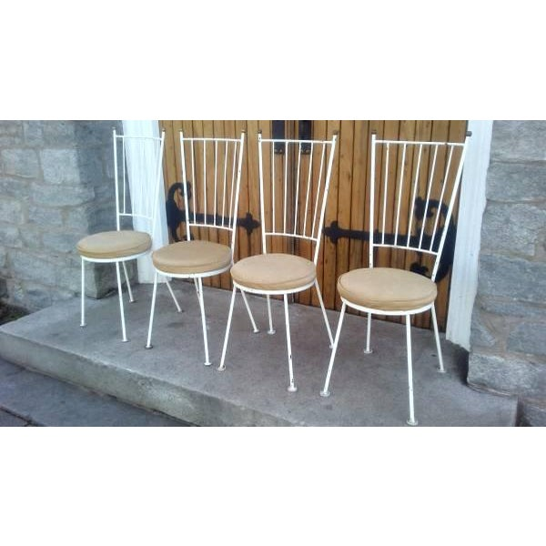 Mid-Century McCobb Style Wrought Iron Chairs - Set of 4 - Image 8 of 8