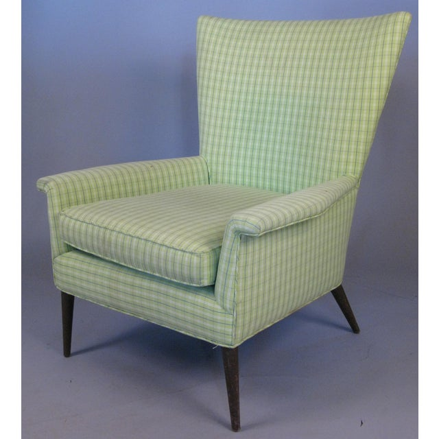 Textile High Back Lounge Chair by Paul McCobb For Sale - Image 7 of 7