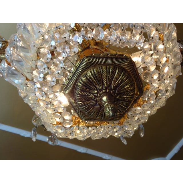 French Crystal Empire Style Chandelier - Image 3 of 8