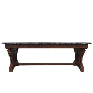 19th Century Gothic Revival Table by Henri Fourdinois For Sale
