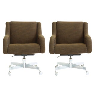 Pair of Roger Sprunger Office Chairs For Sale
