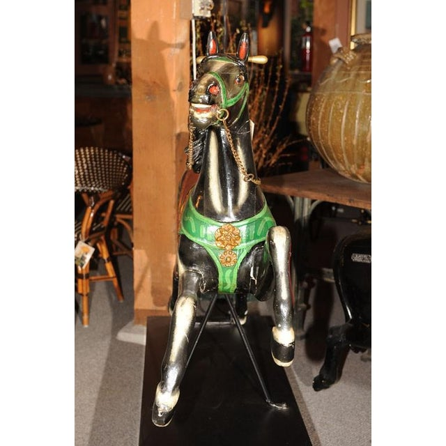 French Antique Carved & Painted Carousel Horse For Sale In San Francisco - Image 6 of 8