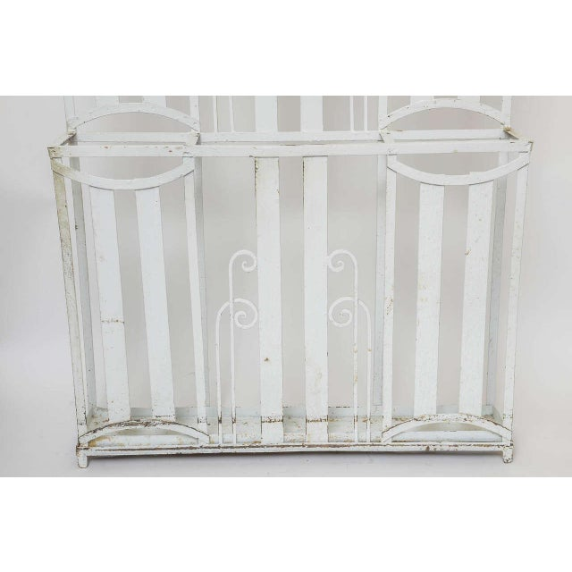 Art Deco French Iron Entry Hall Stand For Sale In West Palm - Image 6 of 11